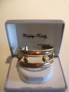LADY'S VERY ATTRACTIVE SOLID COPPER CUFF BRACELET
