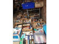 Massive job lot of books-fiction/non-fiction/children's/biographies-32 boxes-Beighton near Lingwood