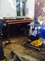 Mini Excavators with Operator for hire 2 sizes $80 & $85 an hr