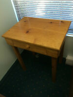 Solid wood table with drawer, asking $20 OBO