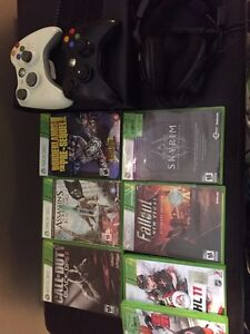 Xbox 360 with 7 games, 2 controllers and turtle beach headset