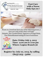 Mobile Medical Foot Care Clinic July 3rd