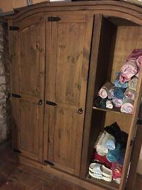 Triple SOLID wardrobe PINE
