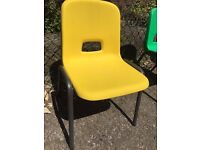 Bright Yellow Stacking School Chair