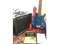 BASS GUITAR, AMP, CASE, BEGINNERS GUIDE