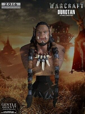 Gentle Giant Warcraft Movie Durotan Classic Sdcc Mini Bust Exclusive New