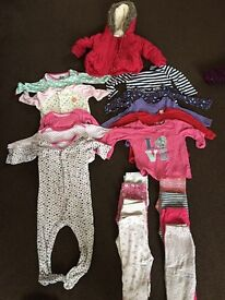Baby Girl Clothes Bundle 3-12 months
