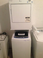 GE STACKER/ PORTABLE WASHER/DRYER SET @ THE WISE SHOP