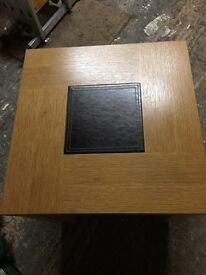 Light Oak Veneer Square Table