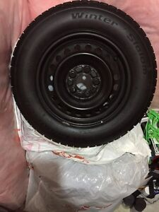 BF Goodrich Slalom Winter tires oem honda steel rims 205/65r15