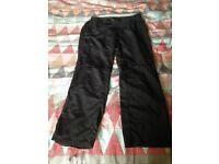 Ladies Karrimor Black Zip off Walking Trousers. Size 18