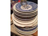 Retro vintage plates