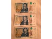 £5 notes (AA and AKs)