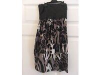 NWOT sequin leopard print boobtube/dress