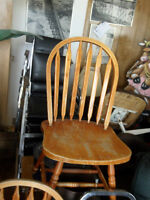 2 USED  wooden chairs as is $10.00 each