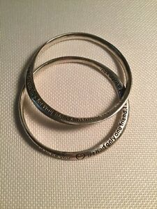 Rue B York Silver Plated Friendship Bangles Cambridge Kitchener Area image 1