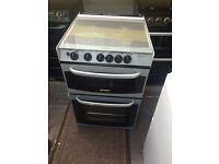 Black & silver cannon 55cm gas cooker grill & oven good condition with guarantee bargain