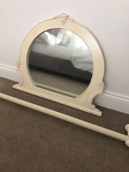 Curtains Ideas curtain poles laura ashley : Shabby chic mirror and Laura Ashley cream curtain pole | in ...