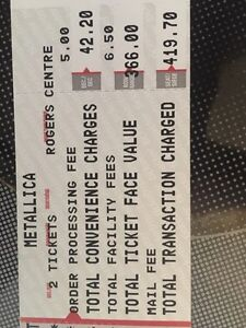 Metallica Tickets Toronto with Avenged Sevenfold and Volbeat