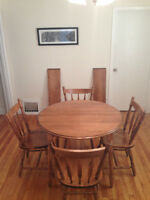 Solid Birch Five Piece Table