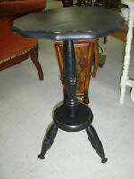 new arrival--refinished distressed black antique small table