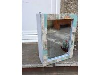 Up cycled bathroom cabinet cupboard medicine mirror £12 little stoke collection