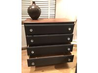 Black shabby chic chest of drawers
