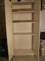 SHELVES WITH DOORS--WHITE