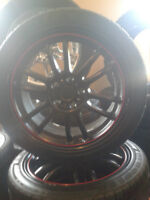 (4) FRD Black rims with 5x115 with 225-45-17 Hercules tires