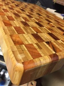 Hand made cutting boards and butcher blocks.