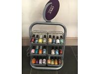 Orly nail varnishes and stand