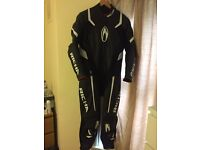 Richa Attack 1 piece Motorcycle Motorbike Leather Suit Black/White