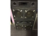 PA or Bass Amp speaker cabs x2