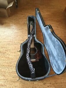 Yamaha acoustic guitar, hard case, stand & strap