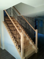 CUSTOM WOODWORK - STAIRS RECAPPING, RAILING, CROWN & TRIM WORK