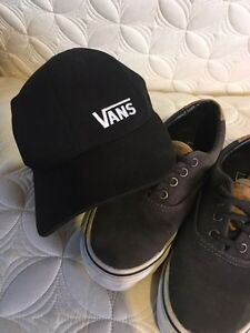 Youth Van's shoes - boys size 3 and full back hat Kingston Kingston Area image 3
