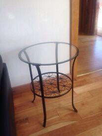 Lamp beside table