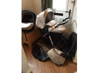 Unisex Beige / Sand Silver Cross Pioneer With Simplicity Car Seat