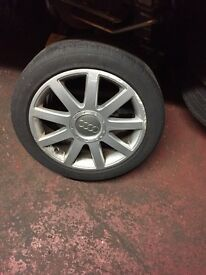 Audi 17ins alloys x4 with good tyres