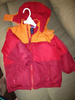 Baby Gap size 3 winter coat excellent condition