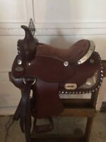 Kids western show saddle