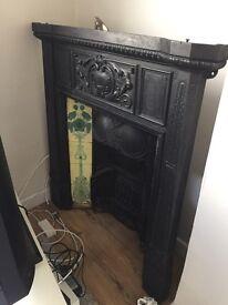 Beautiful Victorian cast iron fire surround