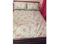 Double Bed Slate Grey Metal