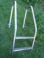 2 step Stainless Steel Pool Ladder in excellent condition