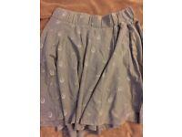 Grey Saltrock jersey skirt size 14