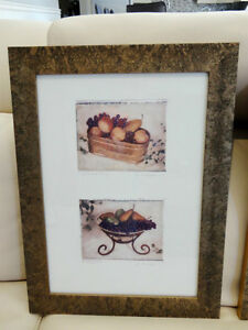 Pair Of Lovely Rectangle Framed prints of Bowls Of Fruits $32/pr Kitchener / Waterloo Kitchener Area image 3