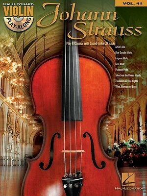 Johann Strauss Sheet Music Violin Play-Along Book and CD NEW 000121041