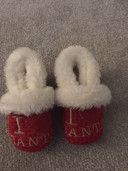 Baby Christmas slippers