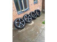 """18"""" Rotor alloys with 225 40 18 tyres. Vw, Audi, merc etc"""