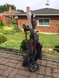 Baby Trend sit & stand double stroller + rain cover London Ontario image 3